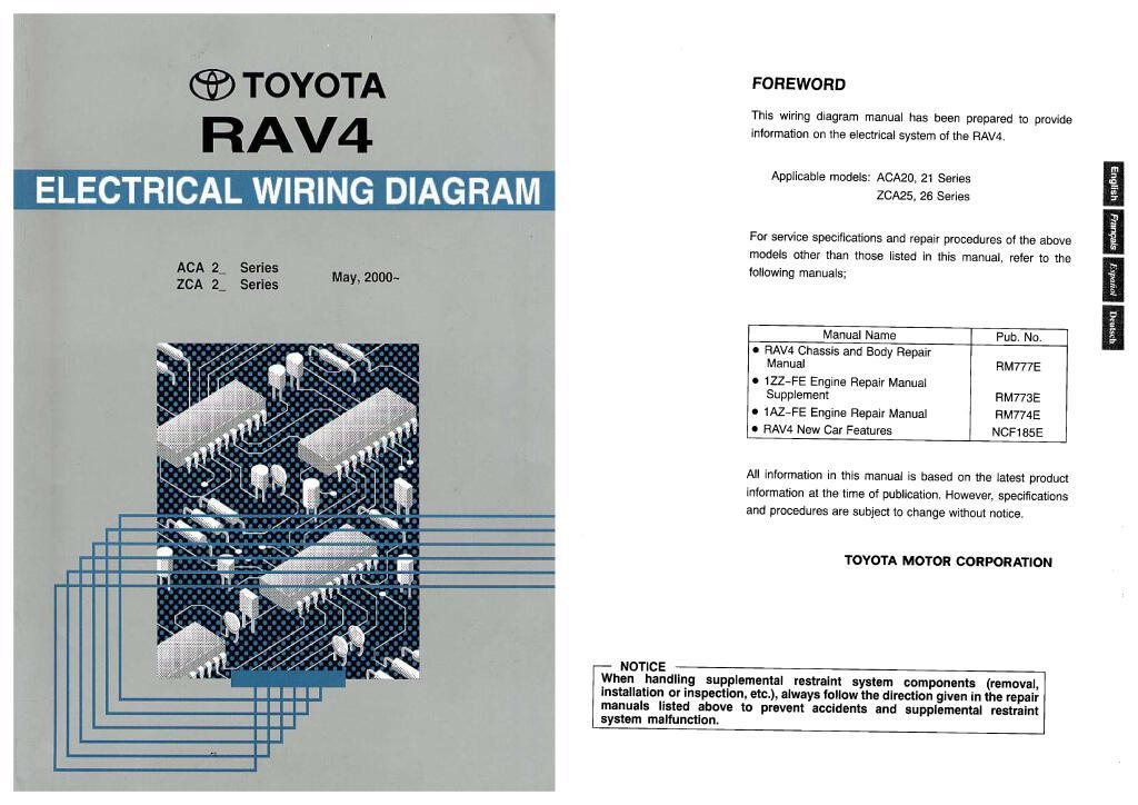 2000 2005 Rav4 Electrical Wiring Diagram Repair Manual Pdf 58 6 Mb Repair Manuals English En