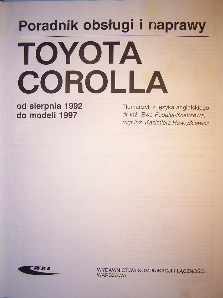 Haynes Corolla Motor 4afe Y 7a Service Manual Pdf 78 1 Mb Repair Manuals Polish Pl